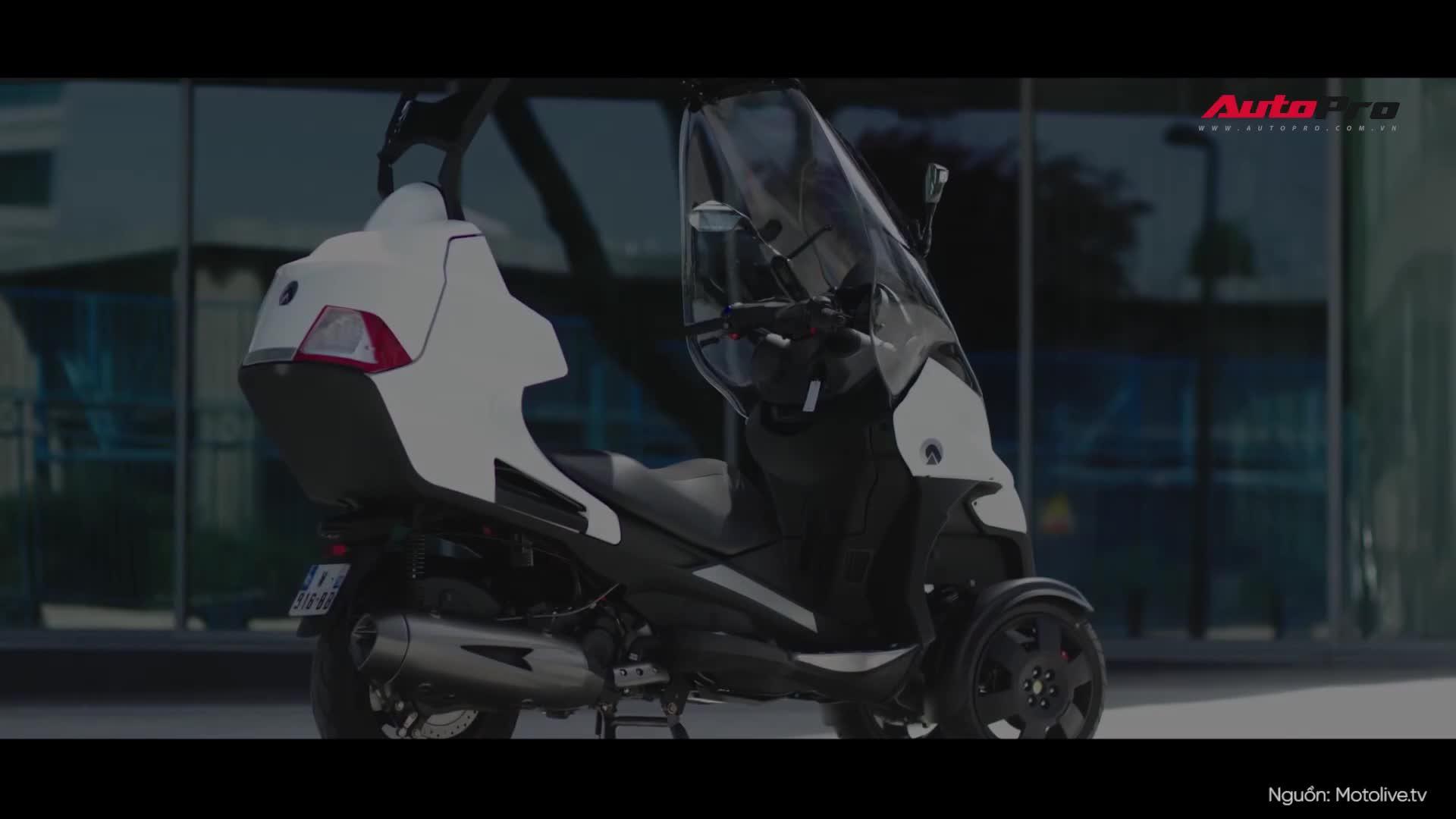 Khám phá Adiva AD3 400-3W: Mẫu Scooter 3 bánh có thể đóng mở mui