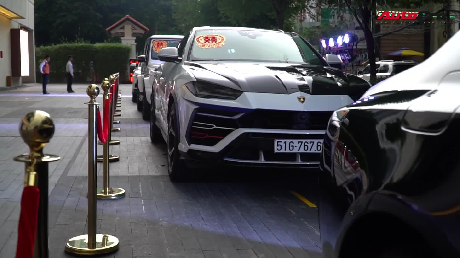 """Dàn xe trăm tỷ của Minh """"Nhựa"""" trong lễ cưới con gái đầu"""