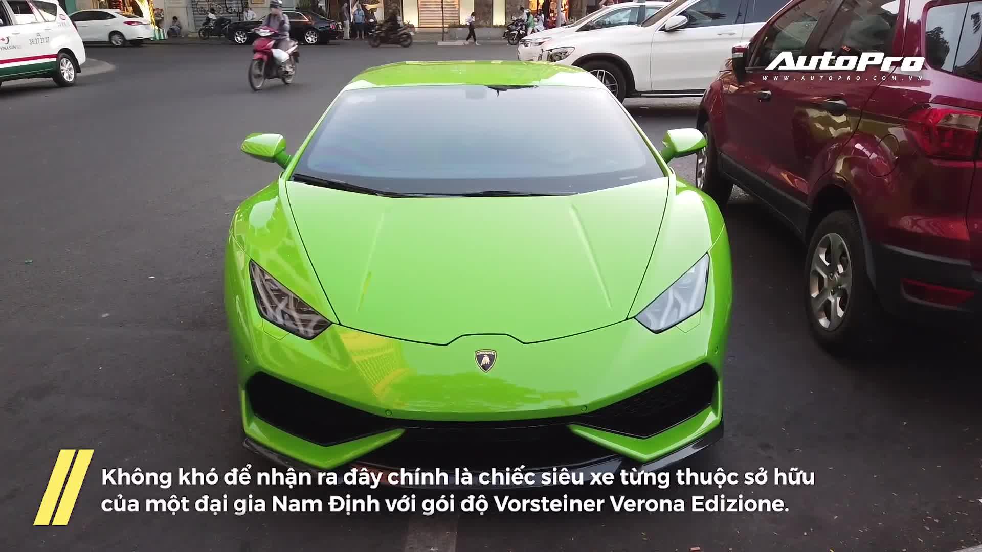 Chán decal màu sắc, Lamborghini Huracan từng của đại gia Nam Định trở về màu xanh cốm nguyên bản