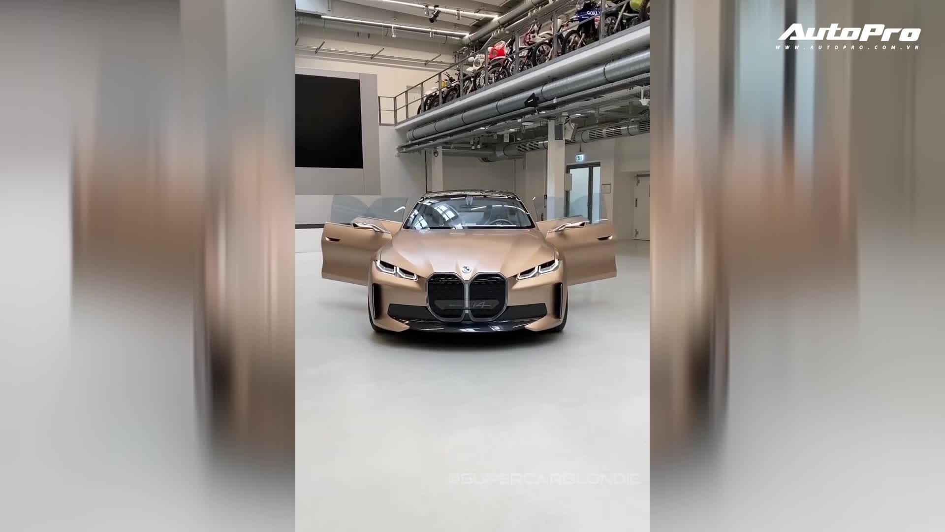Xem nhanh nội ngoại thất chiếc BMW i4 concept sắp ra mắt thị trường