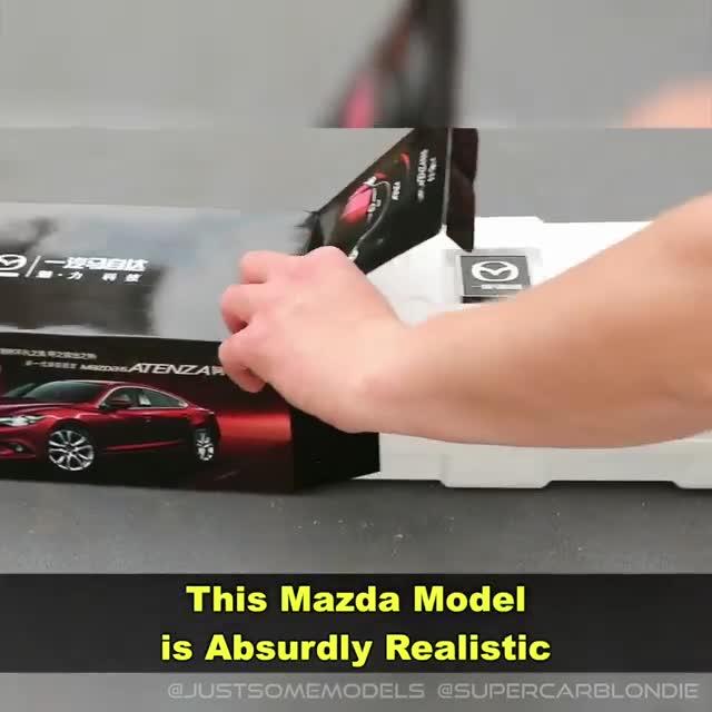 Mô hình Mazda6 siêu chi tiết: Có chỉnh ghế, lốp dự phòng không khác nào xe thật