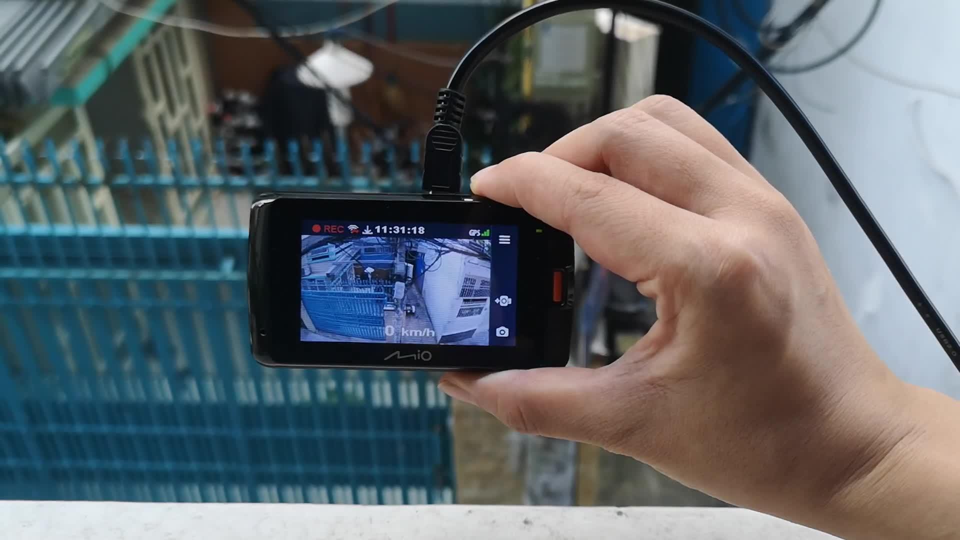 Thử tính năng ghi hình khẩn cấp của Mio Mivue 792