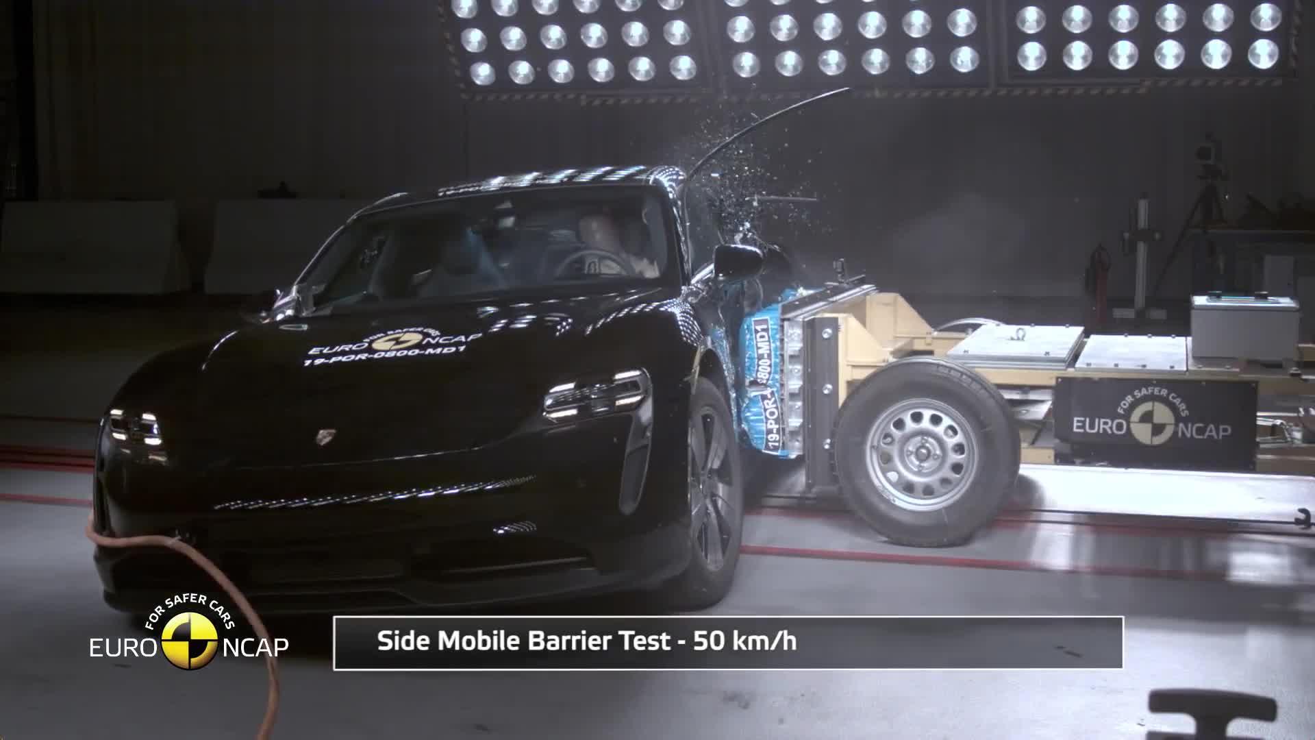 Thử nghiệm va chạm Porsche Taycan 2019