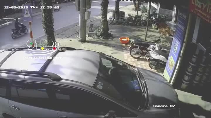 Người đàn ông bị đâm mạnh vào ô tô, dân mạng đau đầu tranh cãi tại con chó hay chiếc ô tô