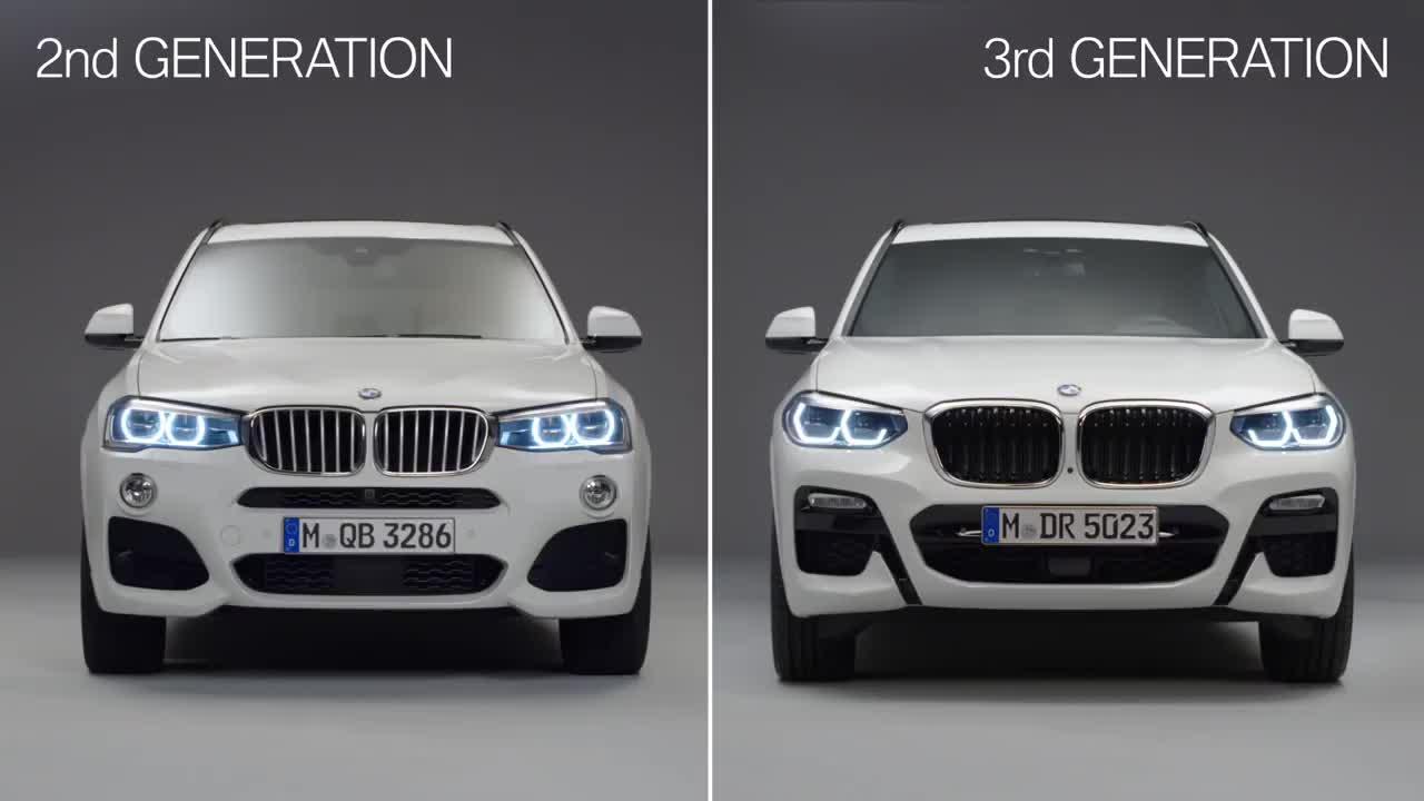 So sánh 2 thế hệ BMW X3