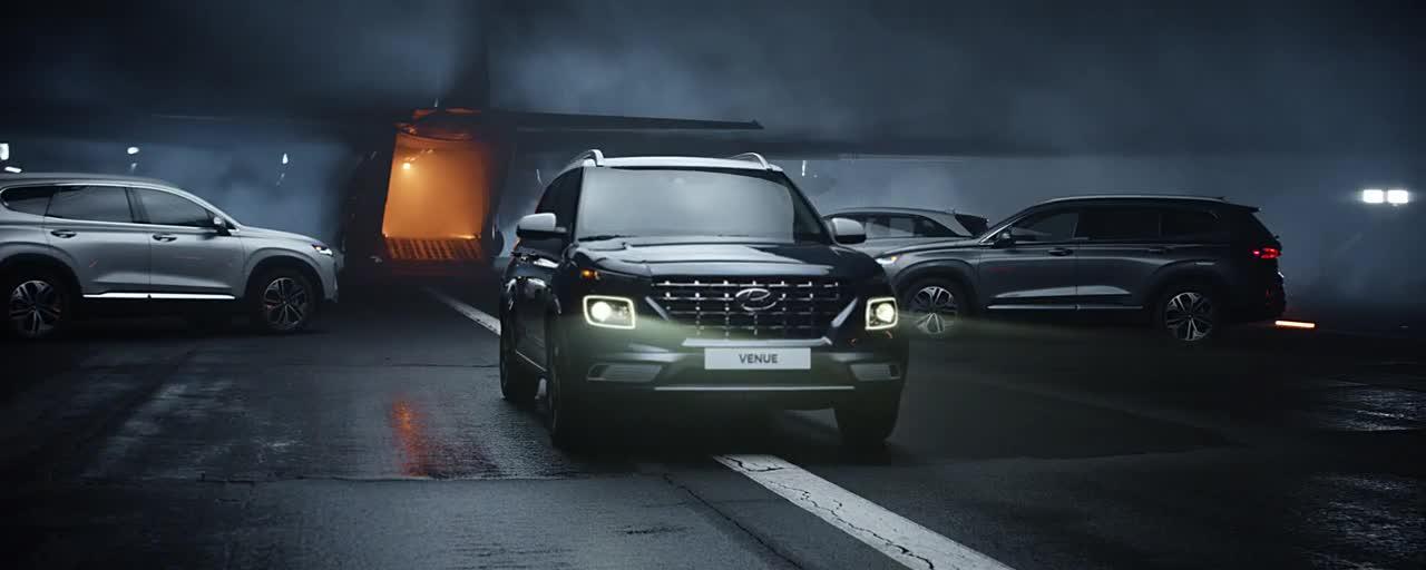 Đội hình SUV Hyundai chào đón người em Venue qua video đặc biệt