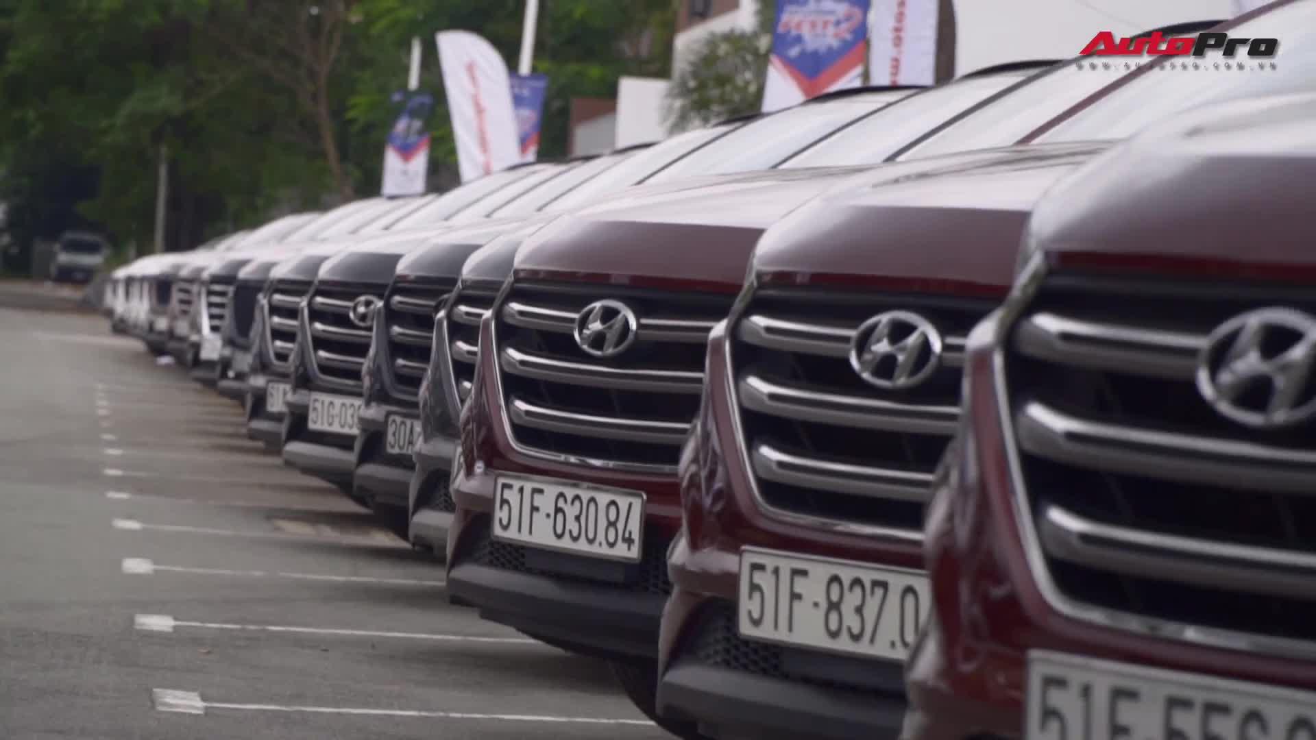 Hơn 100 xe Hyundai khuấy động Sài Gòn