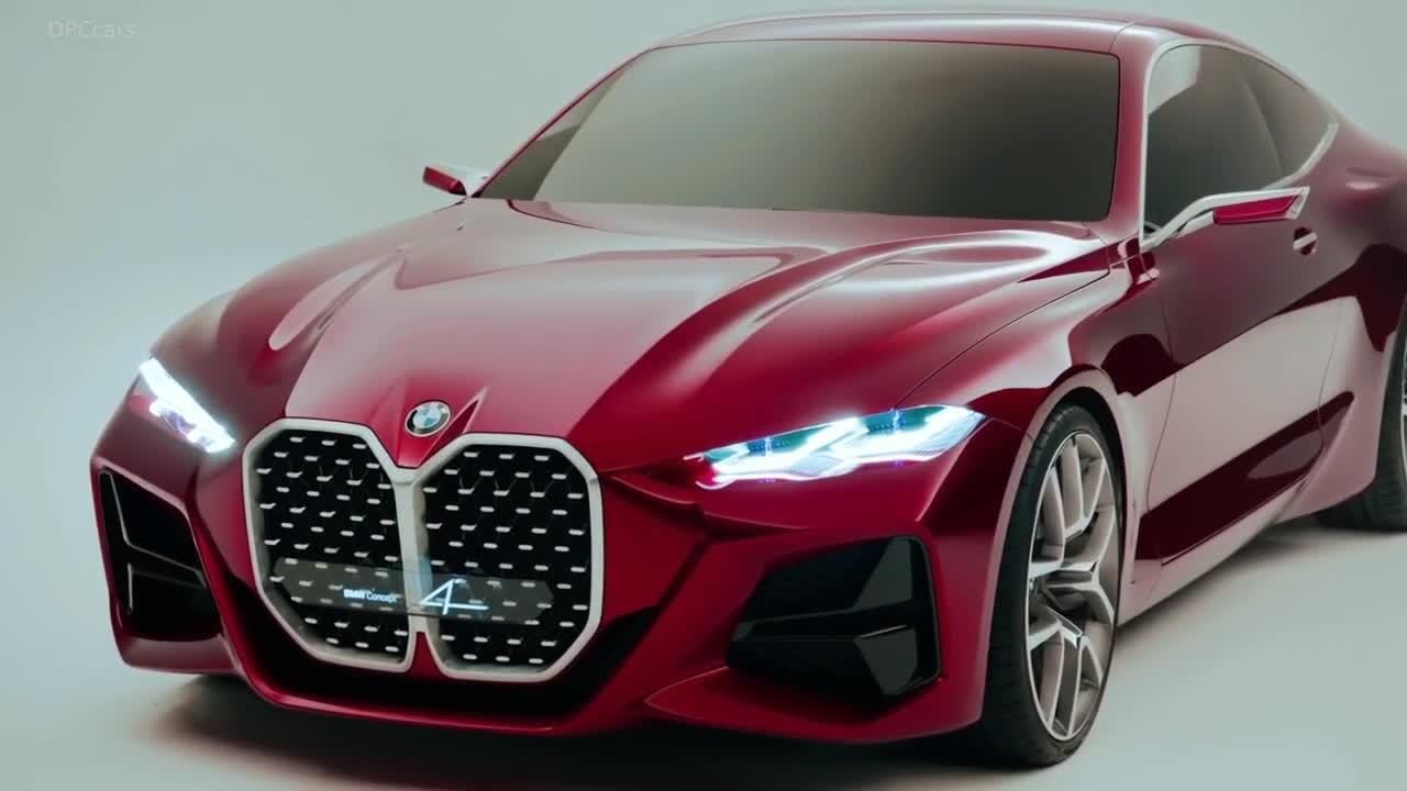 Chi tiết thiết kế BMW Concept 4 - Xe BMW có lưới tản nhiệt to nhất