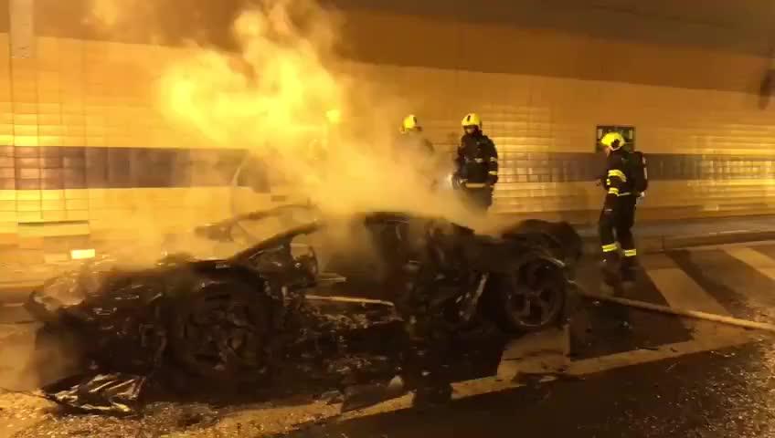Lamborghini Aventador độ Mansory siêu hiếm cháy thành than