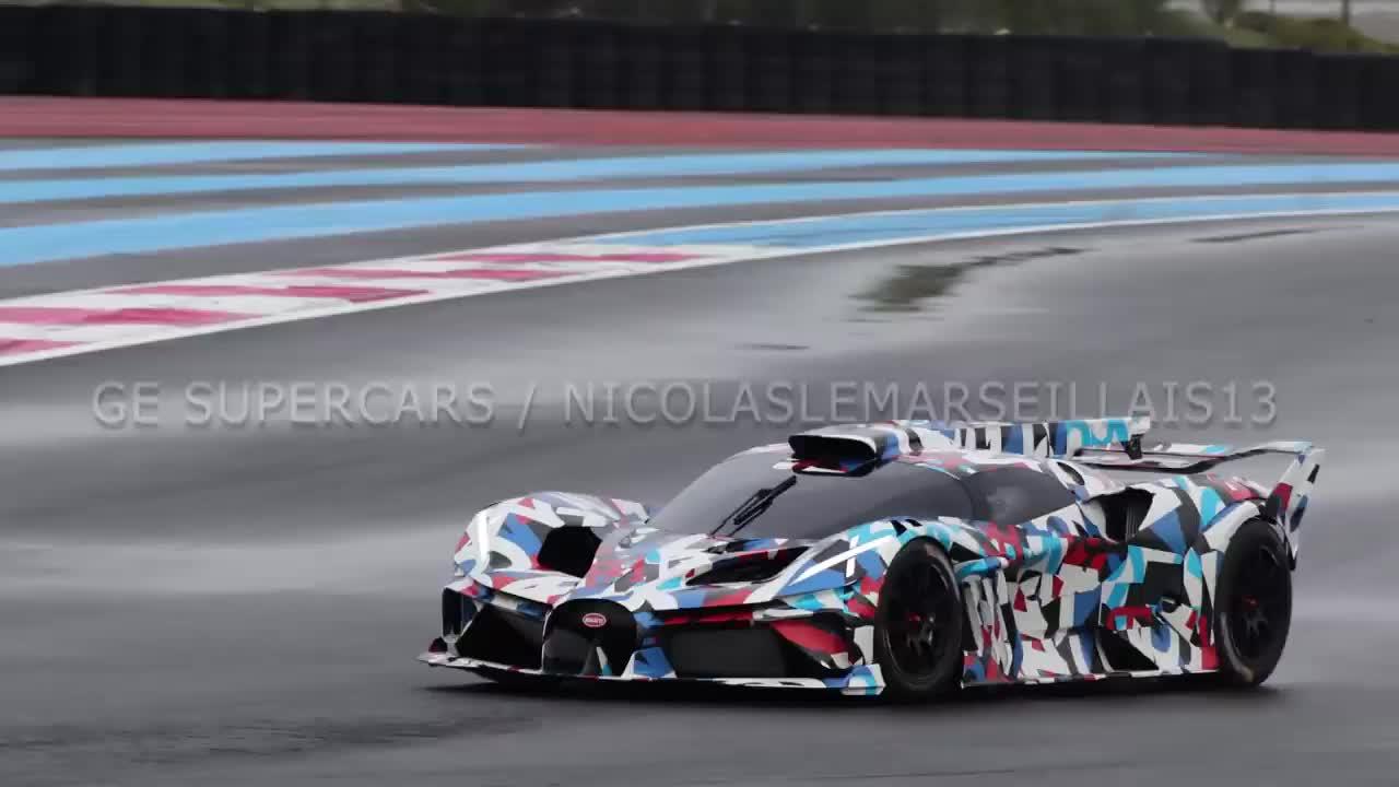 Xe đua Bugatti bí ẩn tại trường đua Paul Ricard