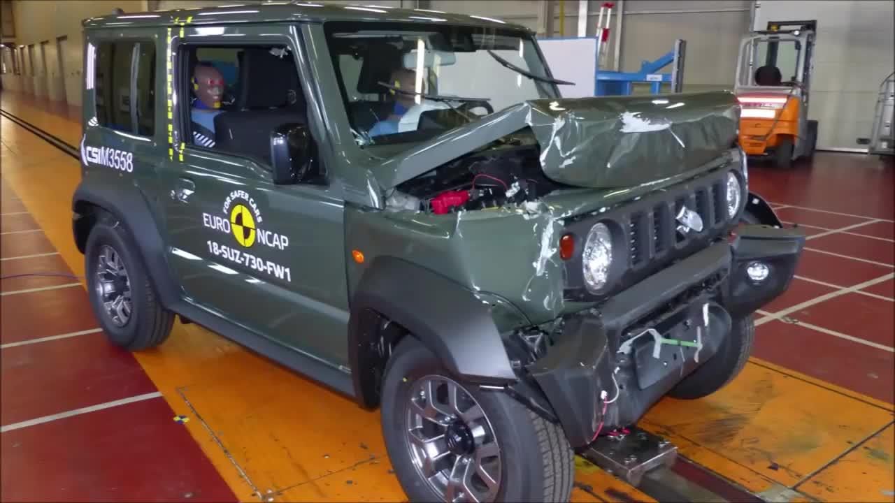 'Phá huỷ' Suzuki Jimny để xem độ an toàn đến đâu