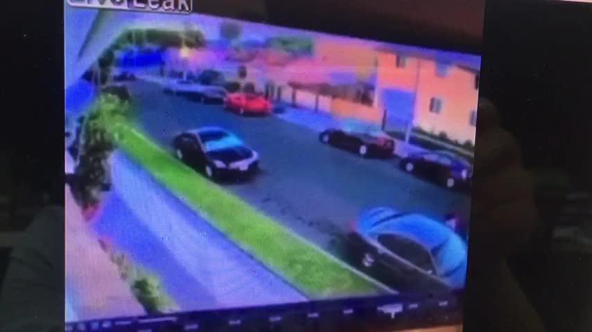 Hình ảnh vụ tai nạn được quay ở một góc máy khác