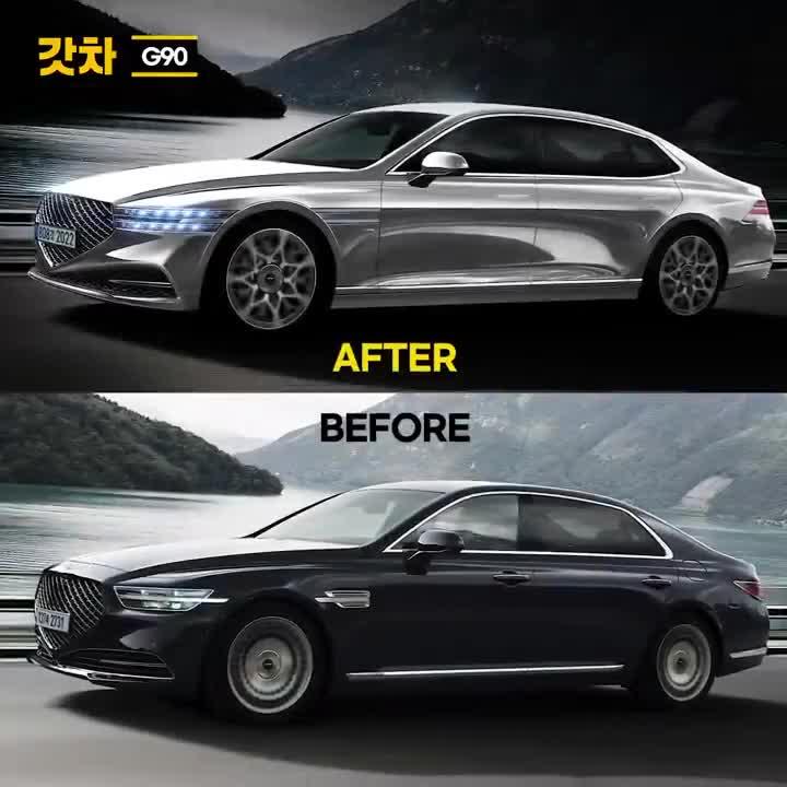 Phác thảo Genesis G90 đời mới chuẩn bị ra mắt đấu Mercedes-Benz S-Class