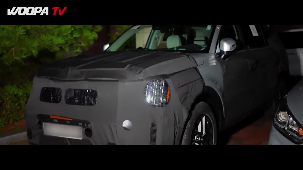 Kia Telluride facelift bị phát hiện chạy thử tại Hàn Quốc