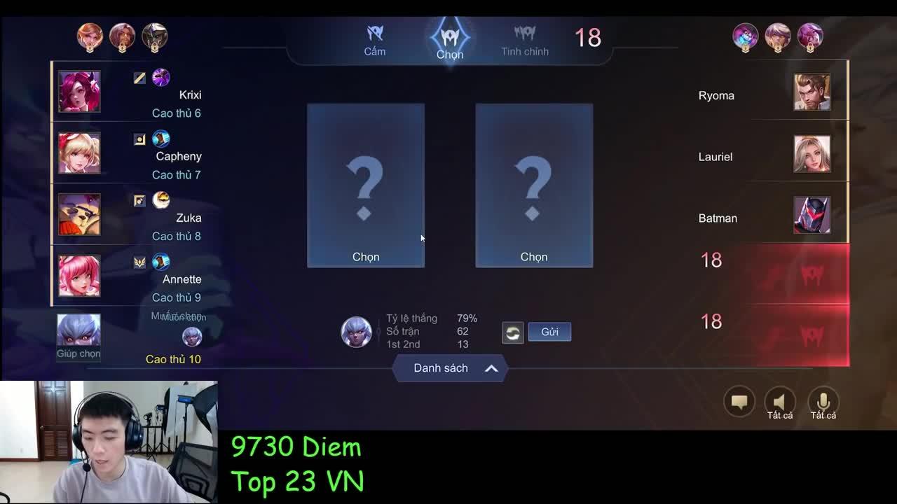 Xuân Bách tryhard leo top 1 đấu Đỉnh Cao thì gặp Best Zuka hack map và cái kết cho team bạn