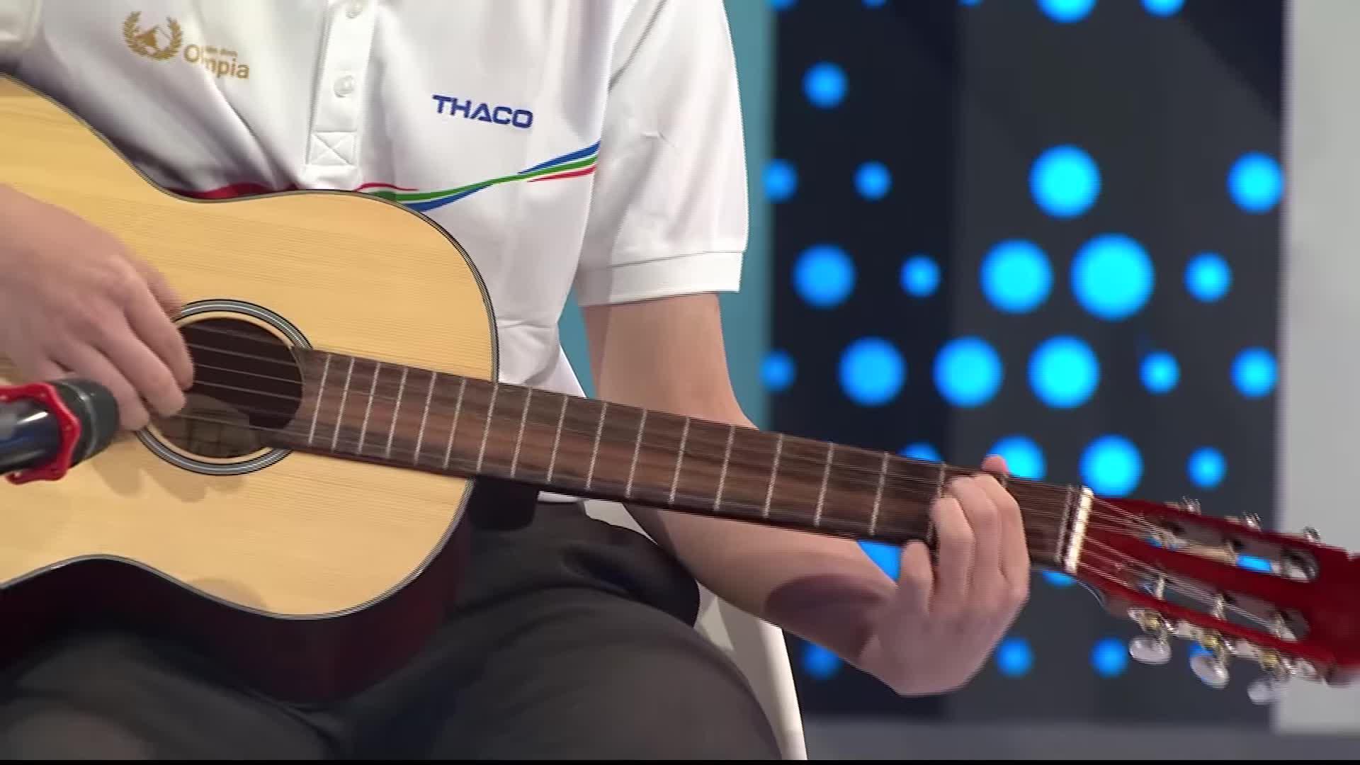 Nam sinh Olympia hát Lemon Tree trên sóng truyền hình