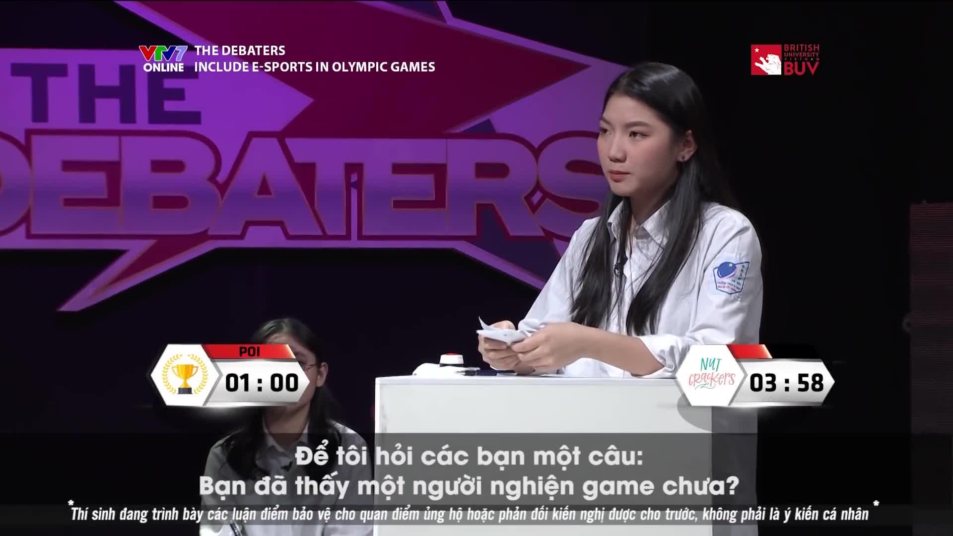 Thí sinh Phương Linh phản biện
