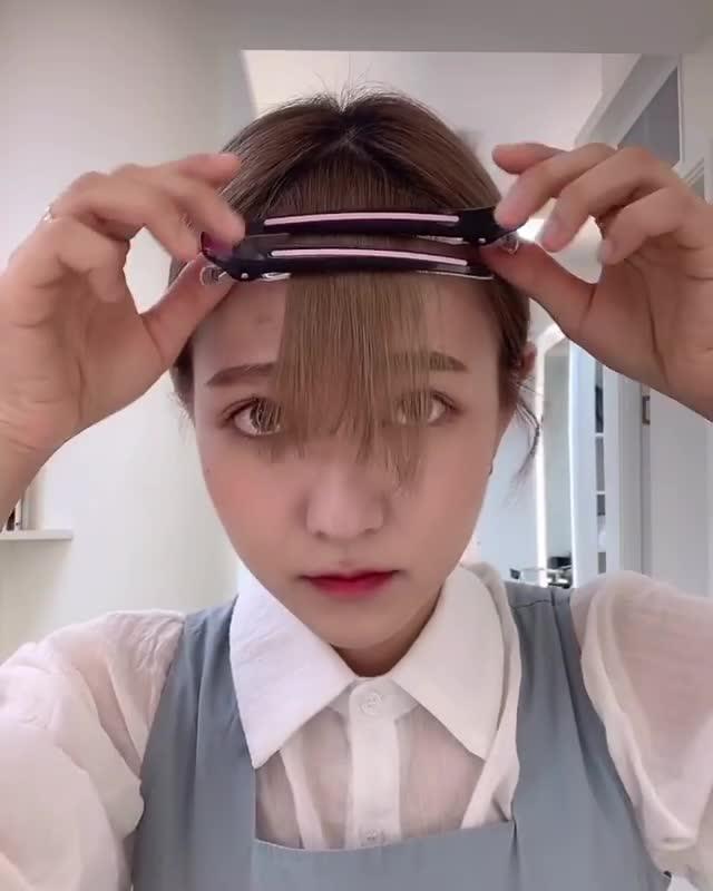 Tự cắt tóc mái theo cách này đảm bảo không fail