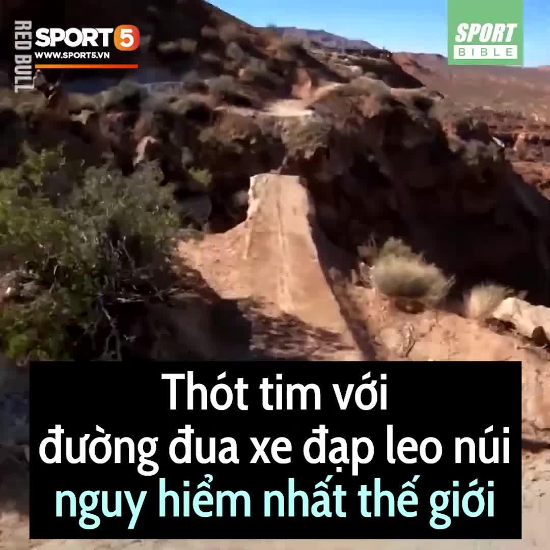 Thót tim với đường đua xe đạp leo núi nguy hiểm nhất thế giới