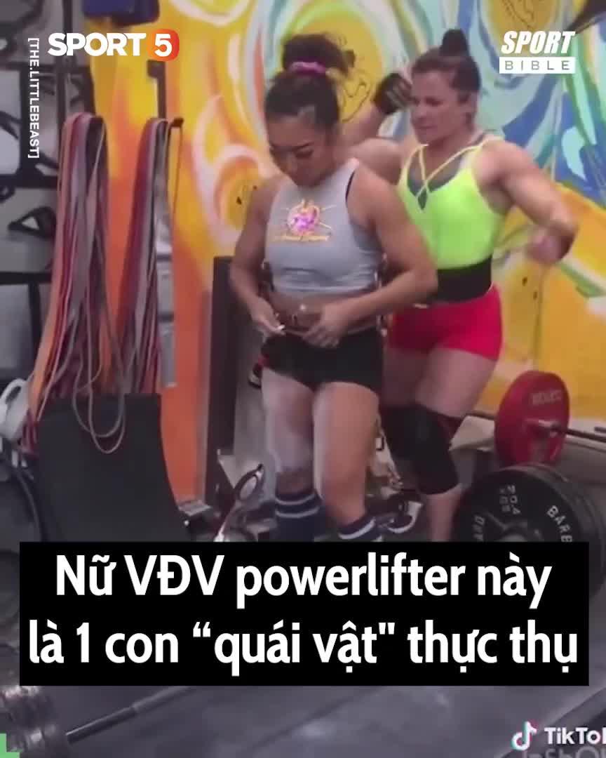 Nữ VĐV toàn năng: nâng tạ gấp 3 lần trọng lượng cơ thể, uốn dẻo như VĐV thể dục