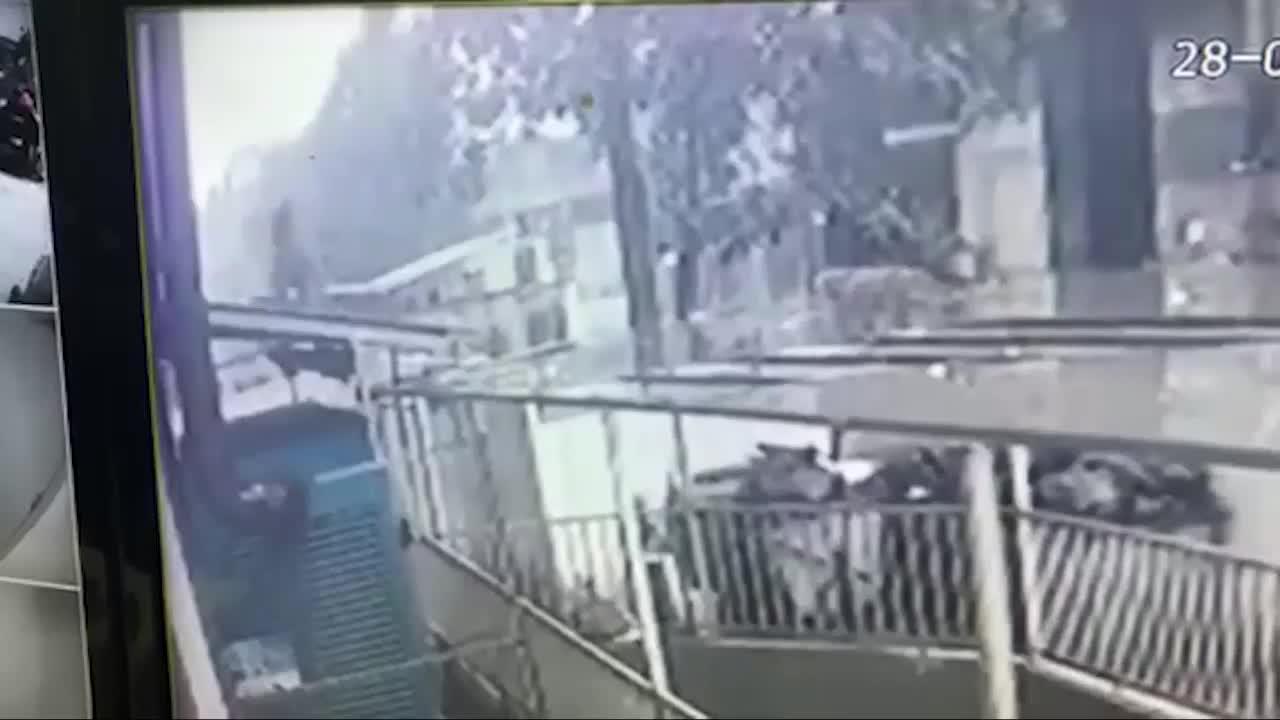 Khoảnh khắc nam thanh niên cứu sống bé gái khi rơi từ tầng 12A xuống