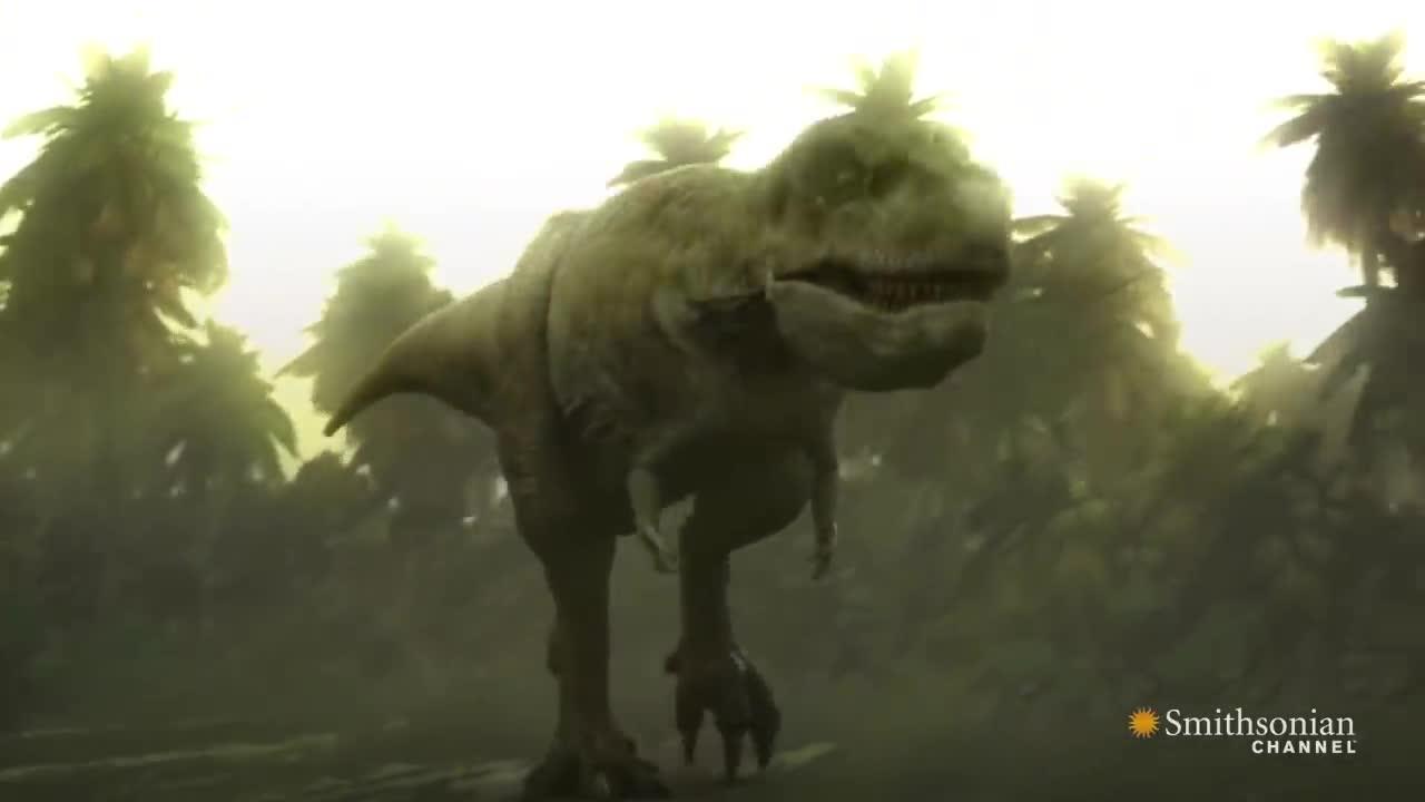 Trăn tiền sử Titanoboa đối đầu khủng long bạo chúa