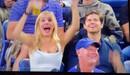 """Màn uống bia """"trăm phần trăm"""" của fan nữ xinh đẹp tạo viral ở US Open"""