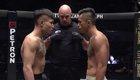 Martin Nguyễn (quần xám) hạ knock-out nhà vô địch MMA Trung Quốc Li Kai Wen (Video: ONE Championship)