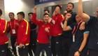 Đội tuyển futsal Việt Nam ăn mừng tấm vé dự vòng knock-out World Cup 2021. (Video: VFF)