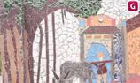 Giữa lòng Thủ đô có một ngôi làng tô điểm bởi những bức tường đẹp nao lòng từ phế liệu
