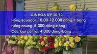 Hoa tươi bắt đầu tăng giá trước ngày 20/10