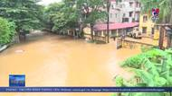Nước sông Hồng dâng cao gây ngập úng tại TP. Yên Bái