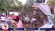 Lốc xoáy làm sập và tốc mái 30 căn nhà ở Vĩnh Long