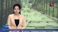 """Cầu treo """"tử thần"""" tại Kim Bôi (Hòa Bình) đang được sửa chữa"""