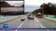 Hàng chục ô tô mất lái, gây tai nạn trên cao tốc