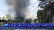 Cháy kho hàng hơn 1.000 m2 tại TP HCM