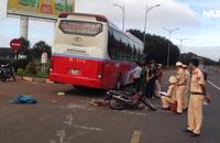 Tông vào hông xe khách, một cô giáo tử nạn