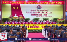 Khai mạc Đại hội Đảng bộ Quảng Nam lần thứ XXII