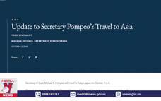 Ngoại trưởng Mỹ rút ngắn chuyến công du châu Á