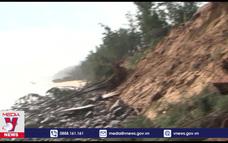 Sạt lở bờ biển đe dọa nhiều công trình tại Bình Sơn (Quảng Ngãi)