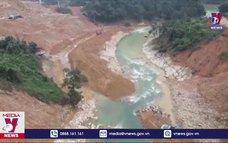 Hoàn thành việc nắn dòng suối Rào Trăng