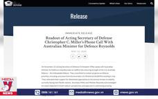 Mỹ khẳng định hợp tác quốc phòng với một loạt nước châu Á
