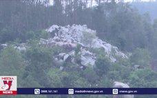 Nguy cơ sạt lở đất đá tại thôn Trà Cong