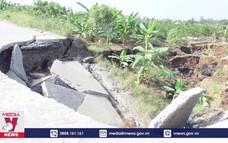 Lún sụt đất tại xã An Sơn, huyện Thủy Nguyên