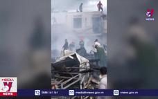 Cháy lớn tại chợ cũ trung tâm thị trấn Di Linh