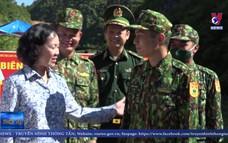 Trưởng ban Dân vận Trung ương động viên bộ đội biên phòng