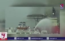 Cháy tàu có 10 người Việt, không ai bị thương nặng