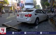 Container tông nhiều phương tiện, 3 người bị thương