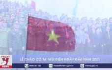 Lễ chào cờ tại Mũi Điện ngày đầu năm 2021