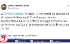 Ecuador thu giữ 1,3 tấn ma túy
